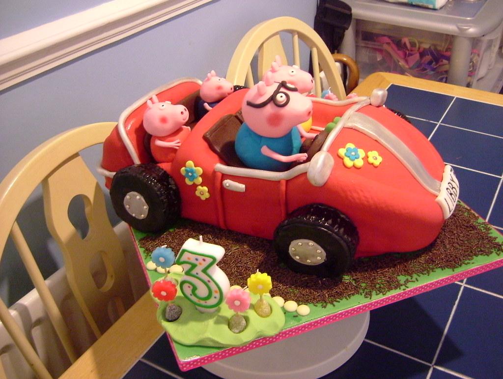Peppa Pig Car Cake Lorna Mcatear Flickr