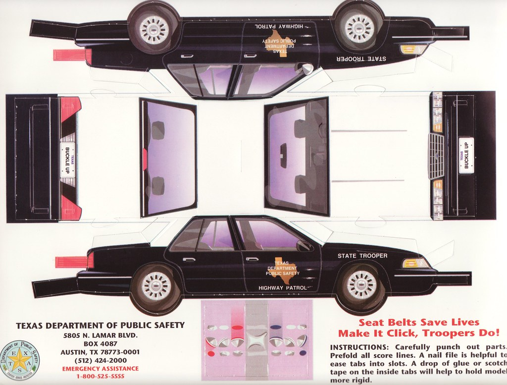 "... Uncut Sheet ""Texas Highway Patrol Car"" | Texas Dp… | Flickr"