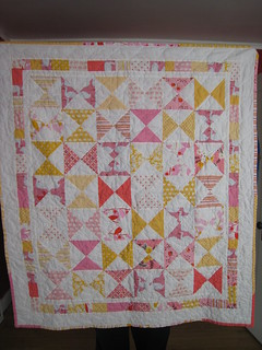 strawberry lemonade hourglass | by Leigh - leedle deedle quilts