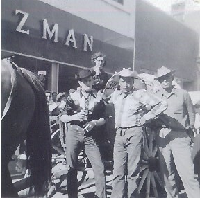 Calgary Stampede 1953 Dad Standing In Front Of Edwin