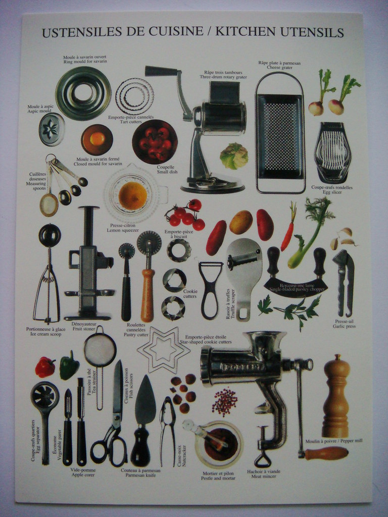 Ustensiles de cuisine kitchen utensils shintapostcard for Ustensiles de cuisine grenoble