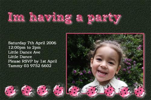 ladybird themed party invitations ladybird themed birthday flickr