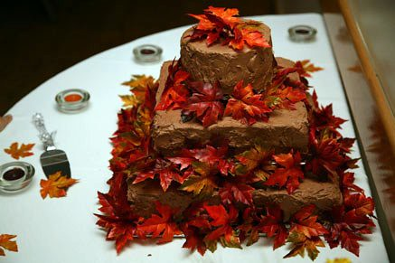 Autumn Themed Wedding Cake Three Tiered Autumn Themed Wed Flickr