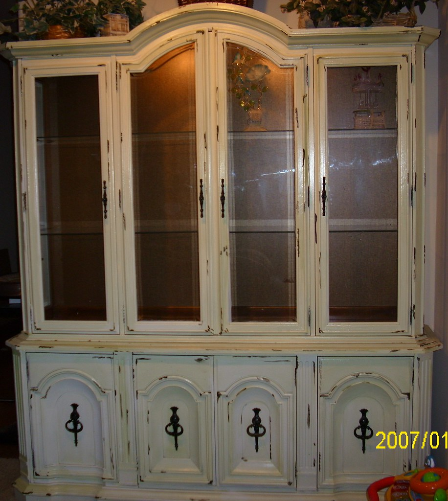 stain hutch to furniture cabinet chalk paint hometalk painted china