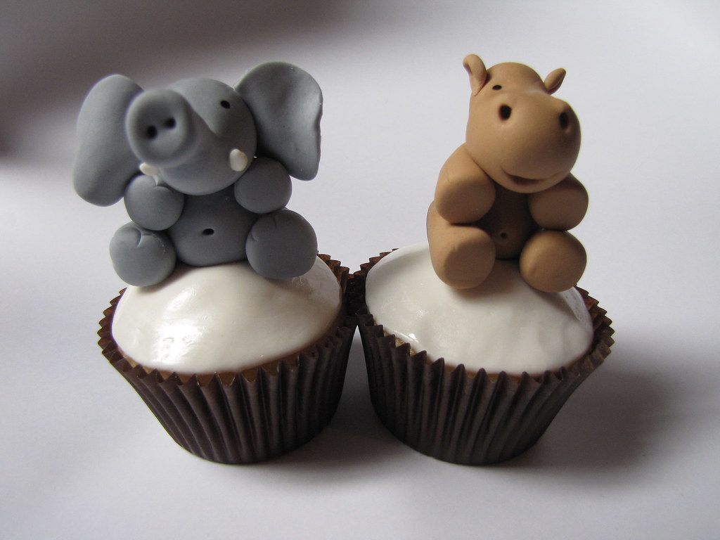 Cute Cakes White Background