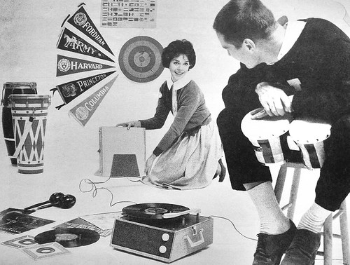 1960s Early 60s, RCA Record Player Phonograph Young Man Woman Teen College Model Spokesmodel Vintage Advertisement Photo | by Christian Montone