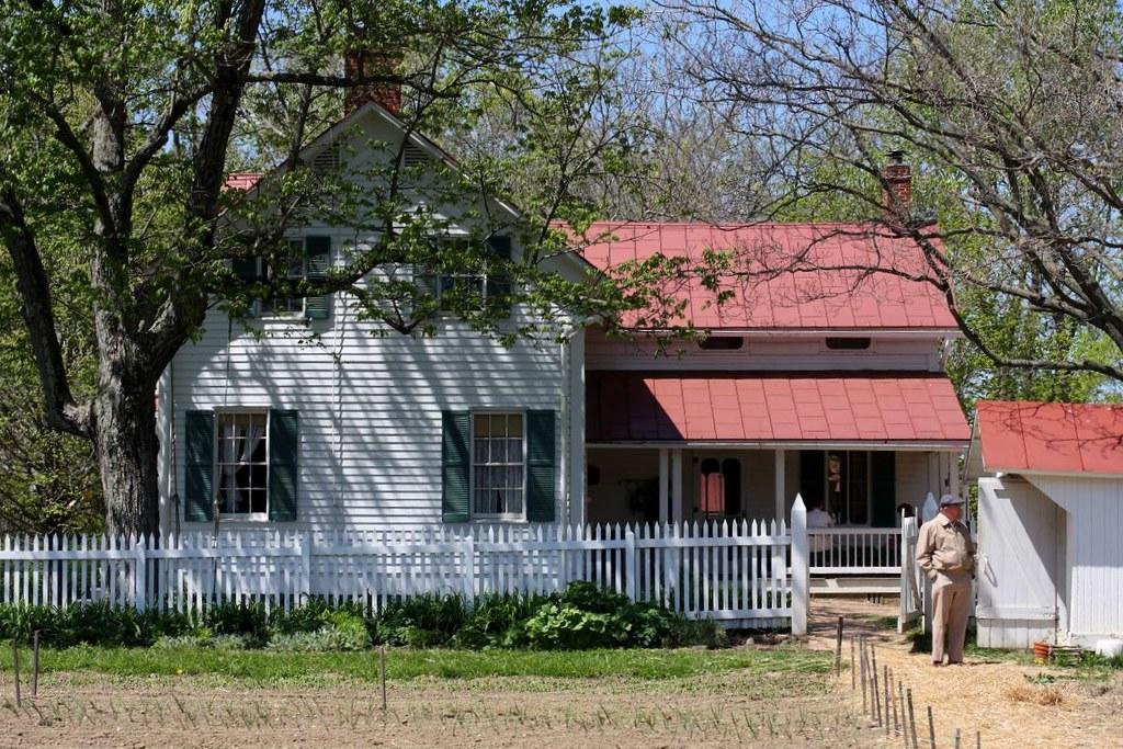 Slate run farmhouse the gothic revival house was built for Gothic revival farmhouse