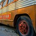 Rusted bus