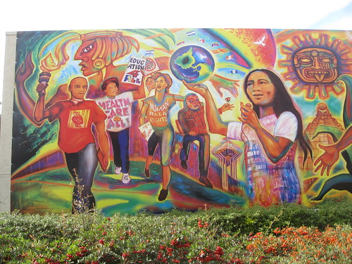 Chicano legacy mural by mario torero 2009 unveiled for Chicano mural movement