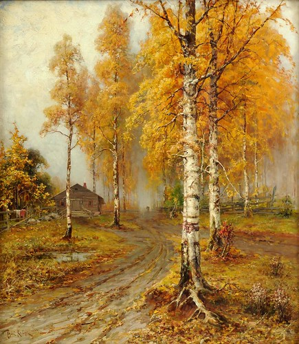 "Julius Klever(1850-1924), ""Golden Autumn"" 