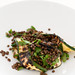 lentil salad with bbq zucchini