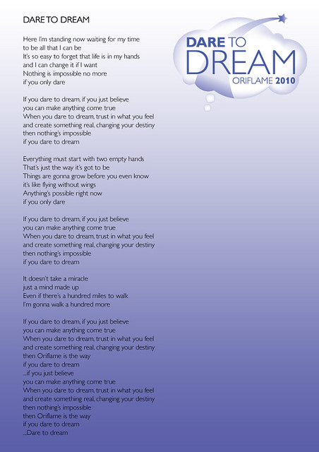 Dare to Dream Lyrics