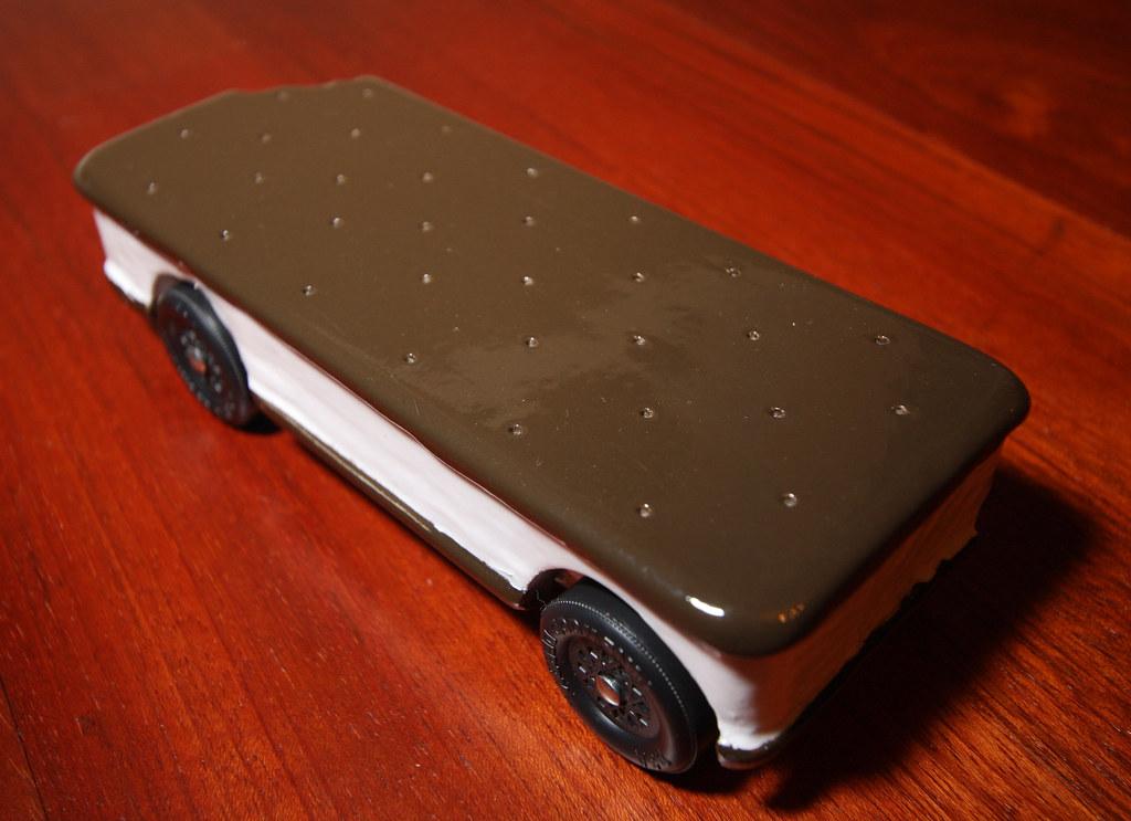 Ice Cream Sandwich - Pinewood Derby Car | Ice Cream Sandwich… | Flickr