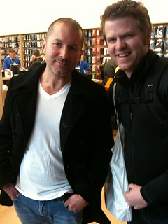 Just met the man, the legend, Jonathan Ive. #geekgasm | by mattgalligan