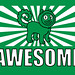 """""""Awesome"""" Shirt Green (Detail)"""