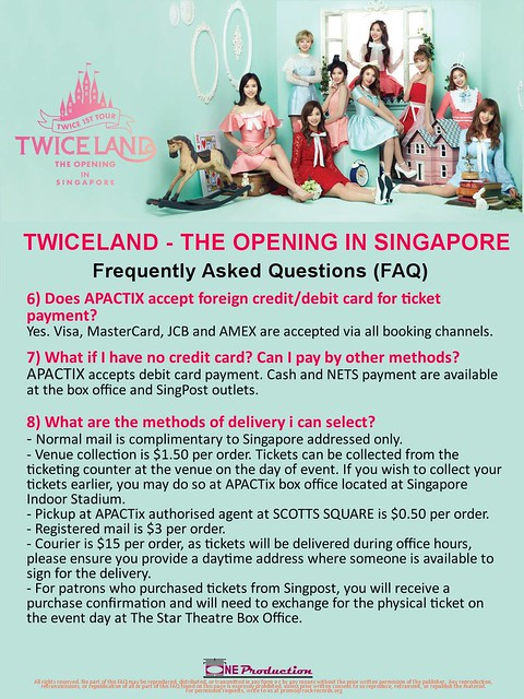 TWICELAND - The Opening – in Singapore FAQ2