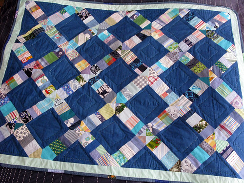 Livvy's baby's string-x quilt 2 | by LeilaBadblood