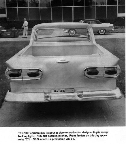 1958 Ford Ranchero Clay Model | This picture is taken from ...