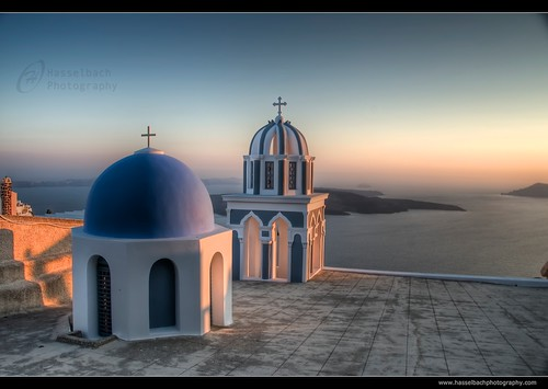 Greece, Santorini at Dusk | by Hasselbach Photography