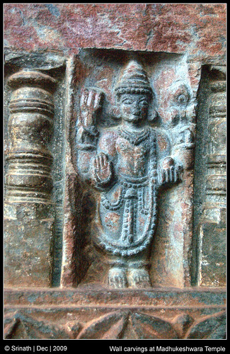 Wall carvings at madhukeshwara temple these pictures