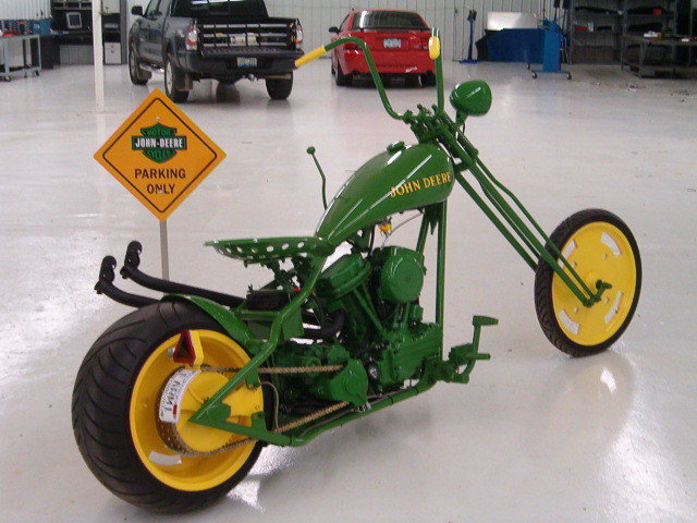 Tractor Seat For Bike : Blevins jones usa john deere panhead chopper ii custom