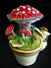 Mushrooms and chicken pincushion!!
