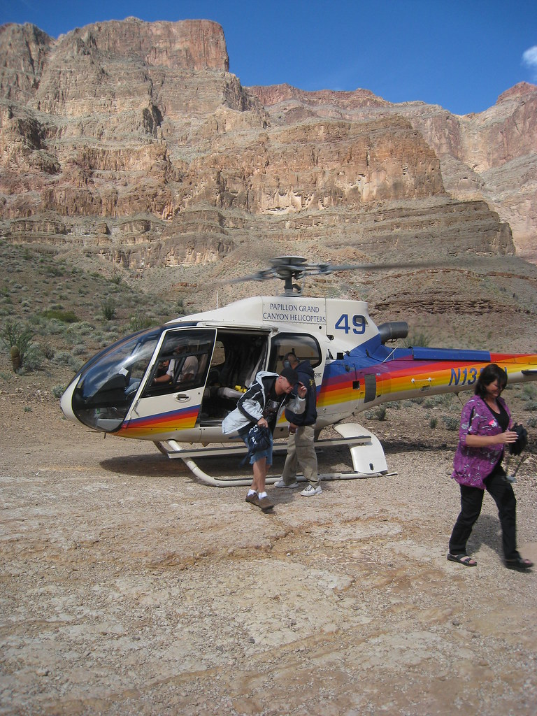 Papillon Grand Canyon West Helicopter  Couple Of Passengers  Flickr