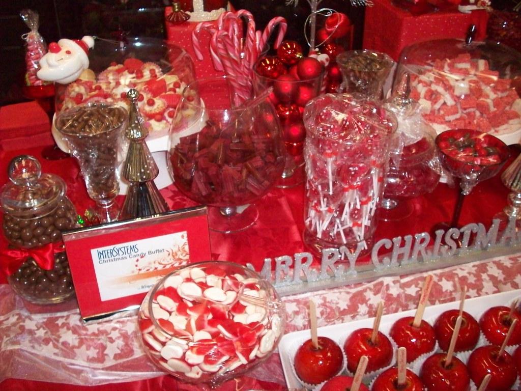 Christmas Candy Buffet Bar Detail Colour Theme I Chose