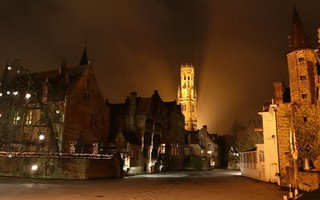Medieval Bruges with unusual Frozen Rozenhoedkaai | by Sir Francis Canker Photography ©