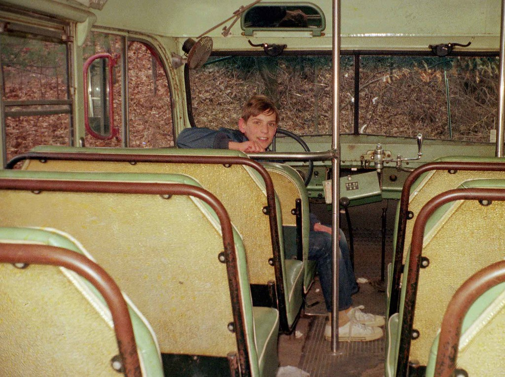 Cool! We found an abandoned school bus. Have to get a pict… | Flickr