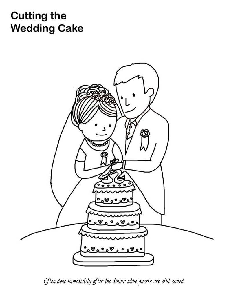 Wedding Cake Coloring Page | Katie Soltysiak | Flickr