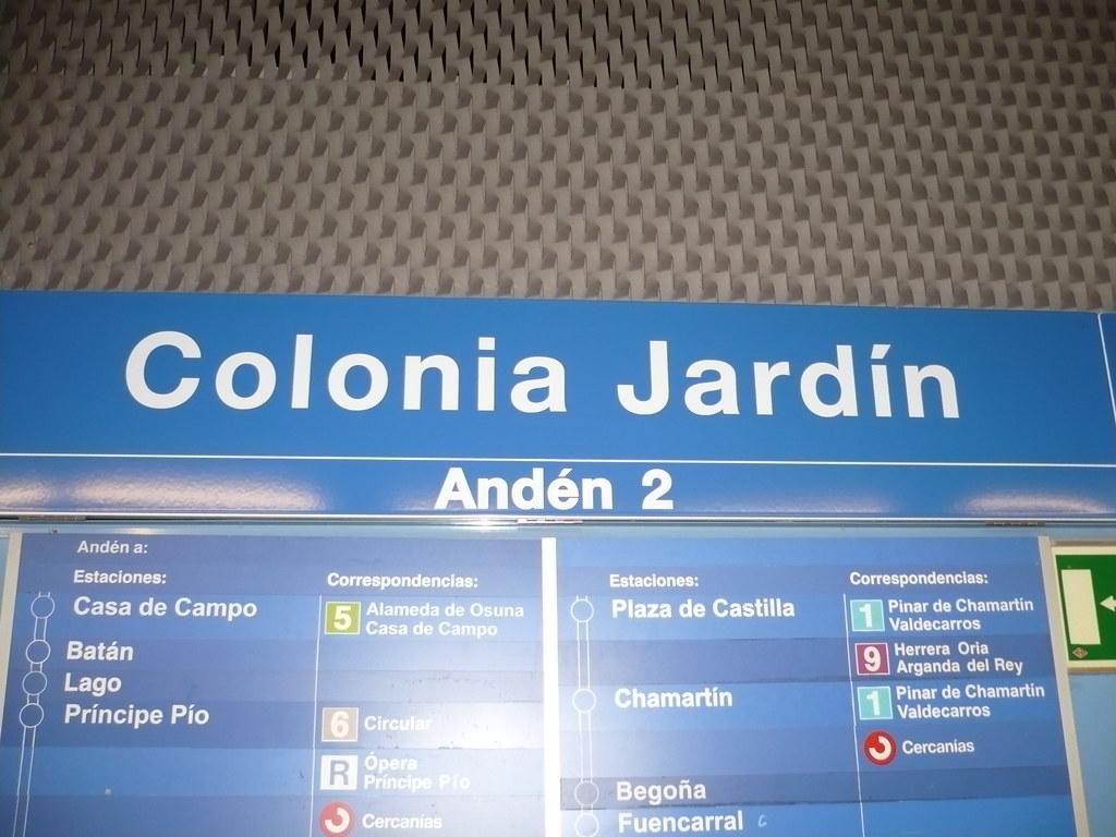 Cartel metro colonia jardin es una estaci n de metro for Metro ligero colonia jardin