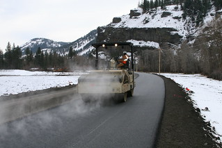 SR 410 Landslide - temporary, winter-durable detour | by WSDOT