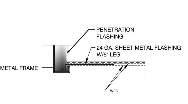 Jamb flashing hollow metal door detail | www.sikesdesign.com… | Flickr