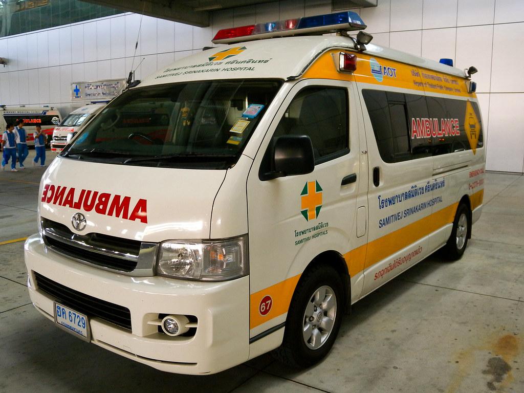 Toyota Commuter Ambulance At Suvarnabhumi Airport
