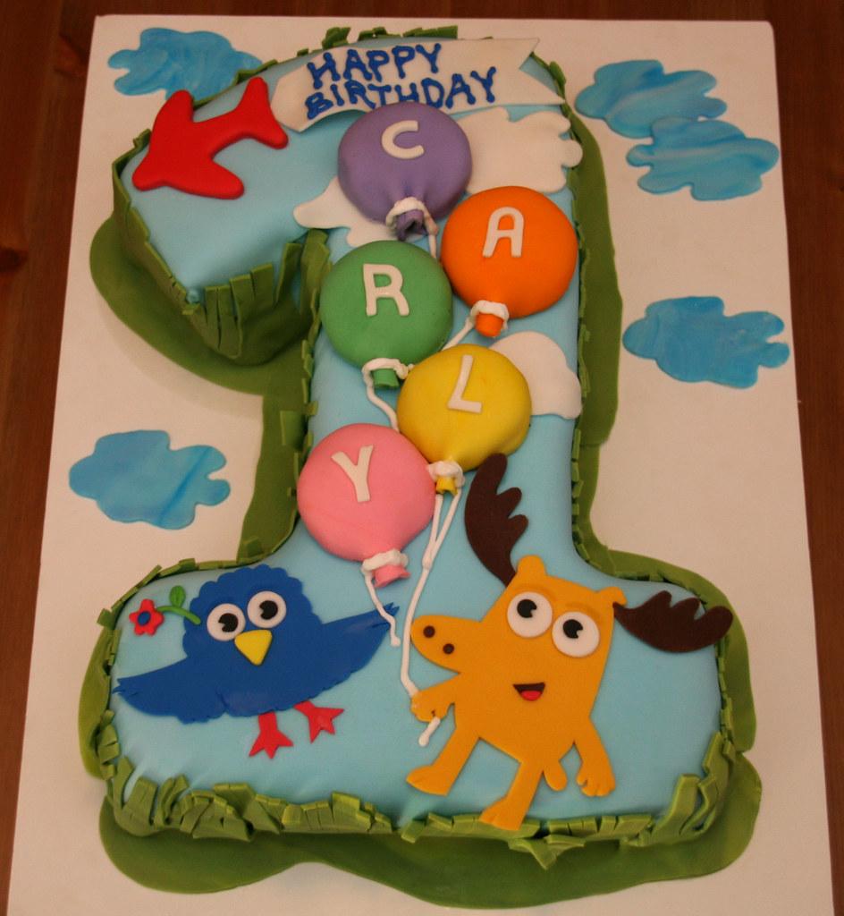 Moose Zee First Birthday Cake Carly More Moose Zee Flickr