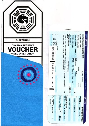 oceanic airlines ticket and sleeve