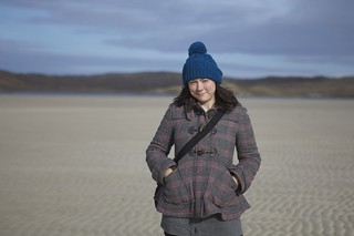 Me on Uig beach - I never thought to bring sunglasses.. | by photojenni