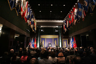 Hall of States during speech by President George W. Bush | by ngaus1878