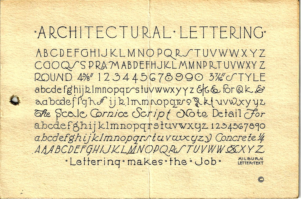 Architectural Lettering Practice Sheets Architectural L...