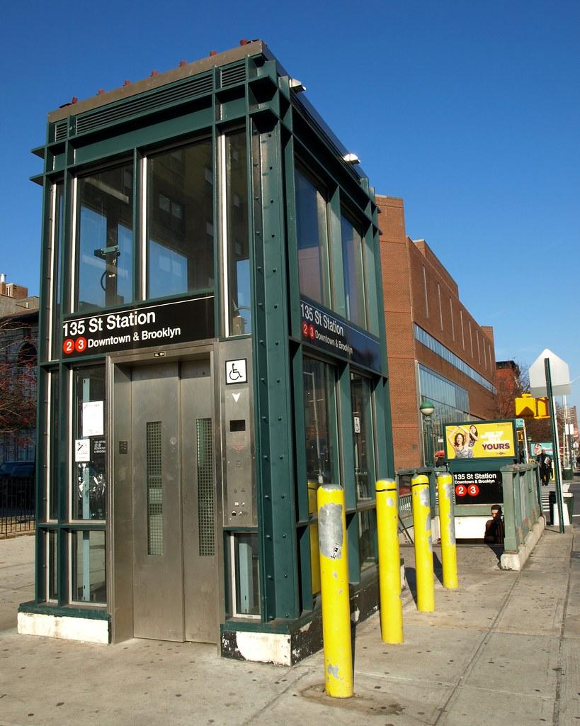 135 Street Subway Station Elevator Harlem New York City