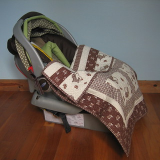 Car Seat Mini Quilt | by Clover & Violet
