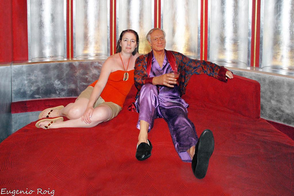 Hugh Hefner At Madame Tussaud S Wax Museum In Las Vegas Ne
