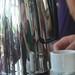Self-portrait in coffee pot