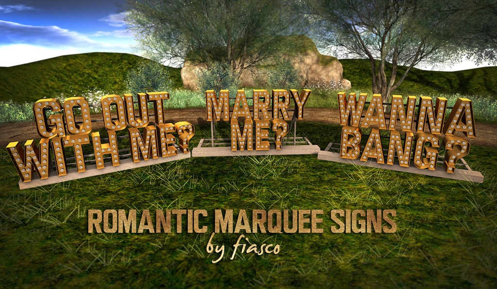Romantic Marquee Signs
