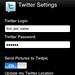 Settings for Twitter