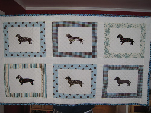 dachshund quilt | by Leigh - leedle deedle quilts