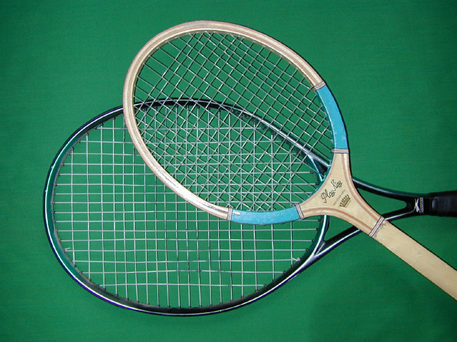 Two tennis racquets