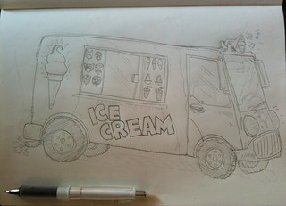 Ness' super hero ice cream truck | by theDVL