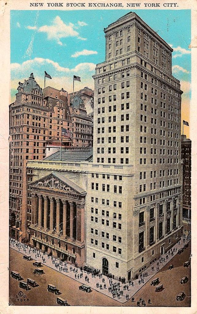 Vintage Postcard New York Stock Exchange New York City